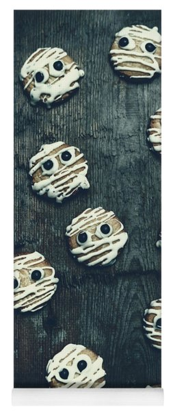 Halloween Mummy Cookies Yoga Mat