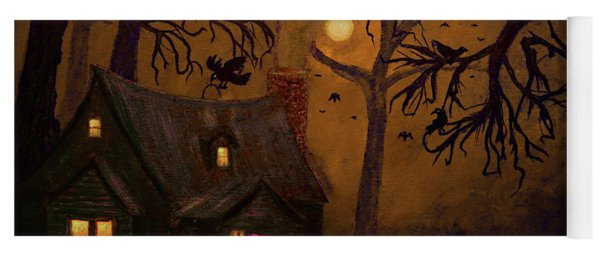Halloween Night Painting Yoga Mat