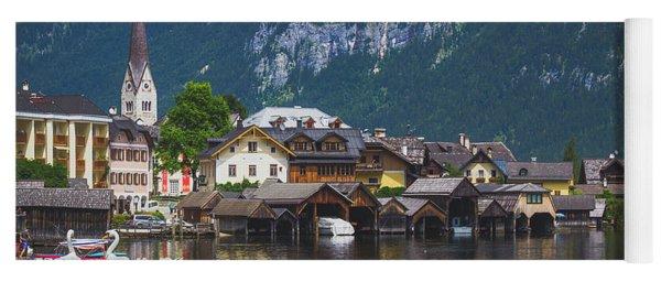 Hallstatt Lakeside Village In Austria Yoga Mat
