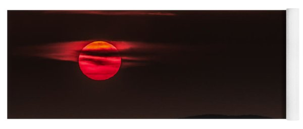 Haloed Sunset Yoga Mat