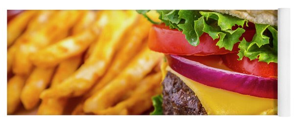 Hamburger Close Up Yoga Mat