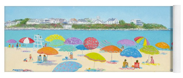 Hampton Beach Umbrellas Yoga Mat