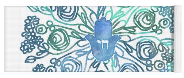 Hamsa Mandala 1- Art By Linda Woods Yoga Mat