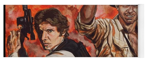 Han Solo And Indiana Jones Yoga Mat