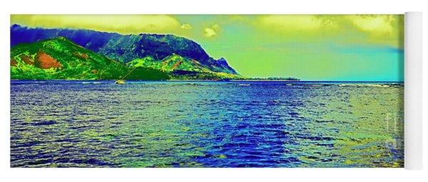 Hanalei Bay Bali Hai Kauai Ship Wrecked  Yoga Mat