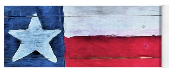 Hand Painted Texas Flag Yoga Mat