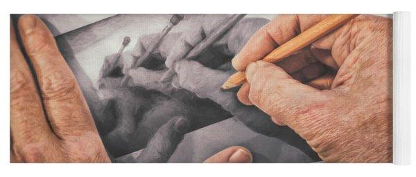 Hands Drawing Hands Yoga Mat