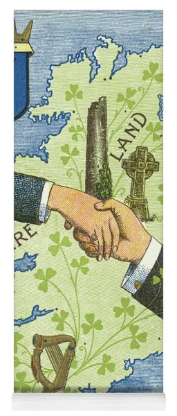 Hands Shaking Across Ireland Yoga Mat