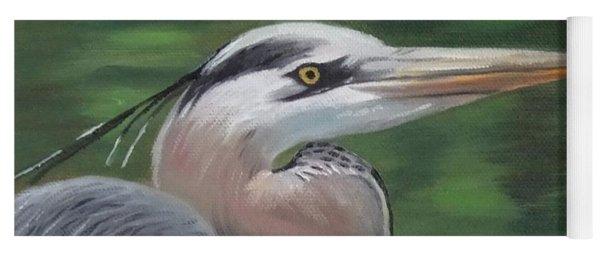 Handsome Heron Yoga Mat