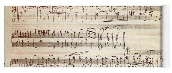 Handwritten Score For Waltz For Piano, Opus 39 Yoga Mat