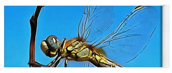 Hang On In There Artistic Dragonfly Yoga Mat