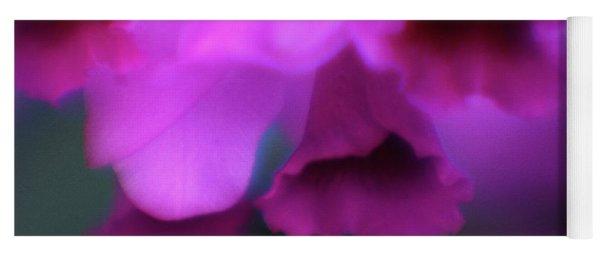 Hanging Purple Tropical Flowers Up Close- Kauai- Hawaii Yoga Mat