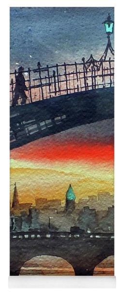 Hapenny Bridge Sunset, Dublin...27apr18 Yoga Mat