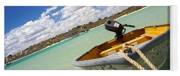 Yoga Mat featuring the photograph Happy Dinghy by T Brian Jones