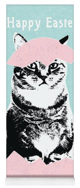 Happy Easter Cat- Art By Linda Woods Yoga Mat