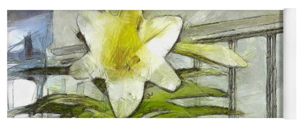 Yoga Mat featuring the photograph Happy Easter Lily by Claire Bull