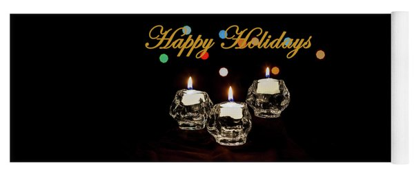 Yoga Mat featuring the photograph Happy Holiday Candles by Ed Clark