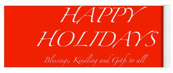 Happy Holidays - Day 1 Yoga Mat
