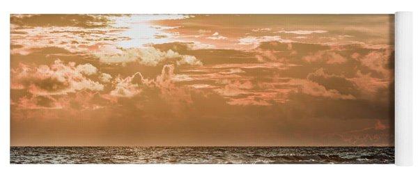 Happy Hour Sunset On The Beach Yoga Mat