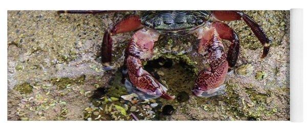 Happy Little Crab Yoga Mat