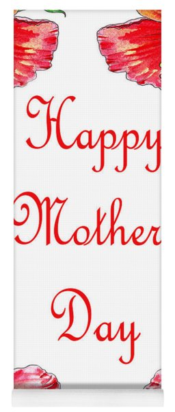 Happy Mothers Day Hibiscus Yoga Mat
