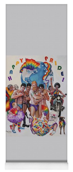 Happy Pride Yoga Mat
