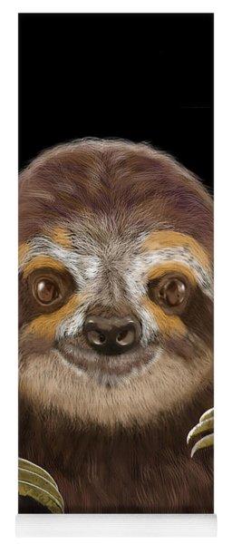 Happy Three Toe Sloth Yoga Mat
