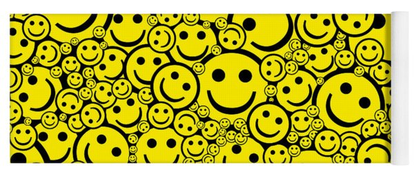 Happy Smiley Faces Yoga Mat