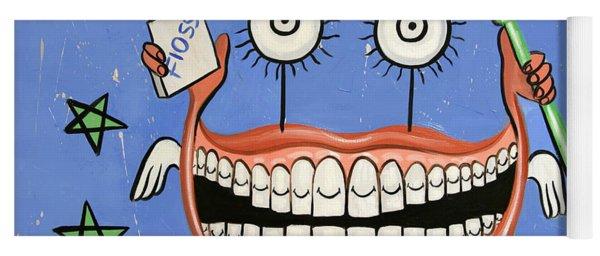 Happy Teeth Yoga Mat