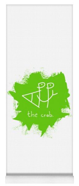 Happy The Crab - Green Yoga Mat
