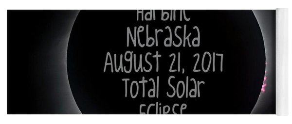 Harbine Nebraska Total Solar Eclipse August 21 2017 Yoga Mat