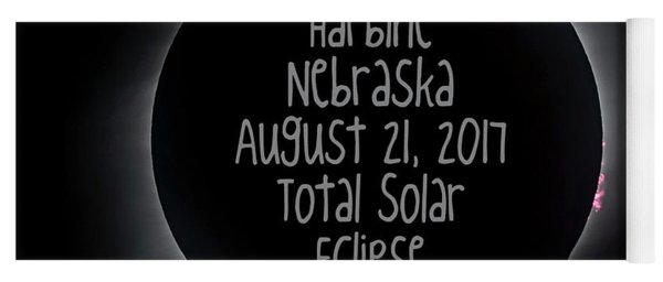 Harbine Nebraska Total Solar Eclipse August 21 2017 Yoga Mat
