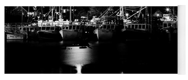 Harbor At Night Yoga Mat