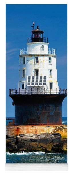 Harbor Of Refuge Lighthouse Yoga Mat