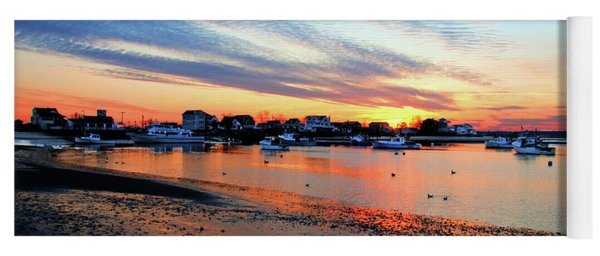 Harbor Sunset At Low Tide Yoga Mat