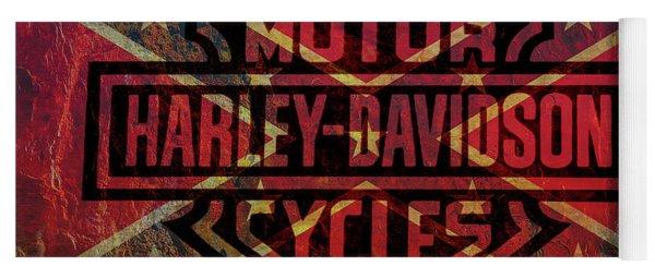 Harley Davidson Logo Confederate Flag Yoga Mat