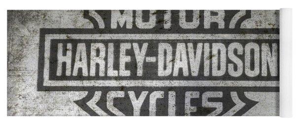 Harley Davidson Logo On Metal Yoga Mat