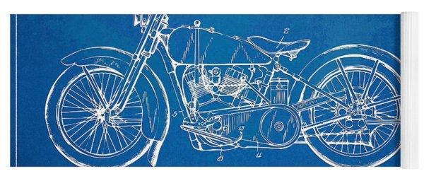 Harley-davidson Motorcycle 1928 Patent Artwork Yoga Mat