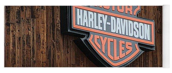 Harley Davidson Sign In West Jordan Utah Photograph Yoga Mat