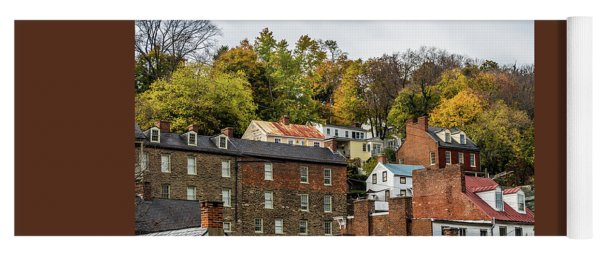 Yoga Mat featuring the photograph Harpers Ferry In Autumn by Ed Clark