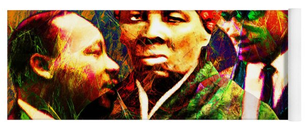 Harriet Tubman Martin Luther King Jr Malcolm X 20160421 Text Yoga Mat