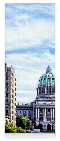Harrisburg Pa - Capitol Building Seen From State Street Yoga Mat