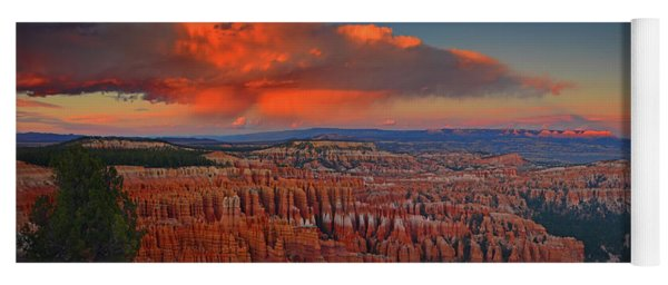 Harvest Moon Over Bryce National Park Yoga Mat