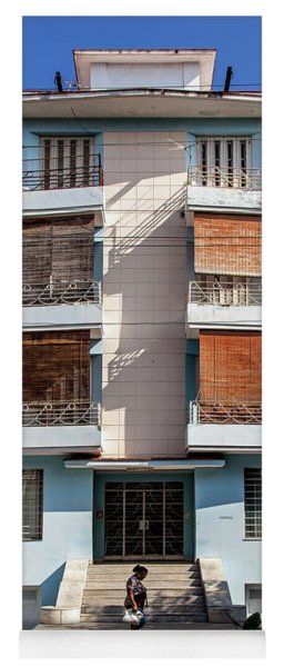 Havana Cuba Apartment Building Yoga Mat