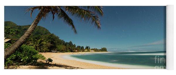 Hawaii Moonlit Beach Wainiha Kauai Hawaii Yoga Mat