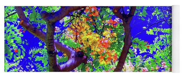 Hawaii Shower Tree Flowers Yoga Mat