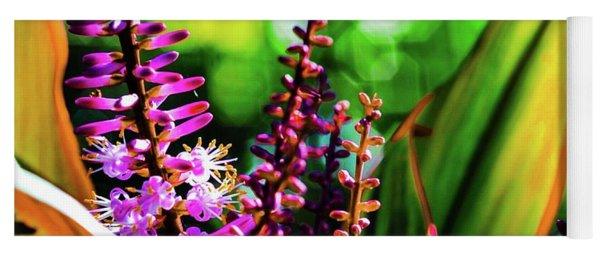 Hawaii Ti Leaf Plant And Flowers Yoga Mat