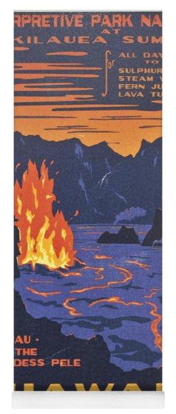 Hawaii Vintage Travel Poster Yoga Mat