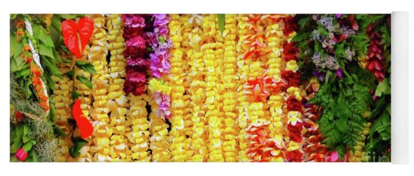 Hawaiian Flower Lei's Yoga Mat