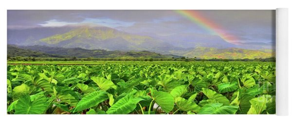 Hawaiian Taro Fields Yoga Mat